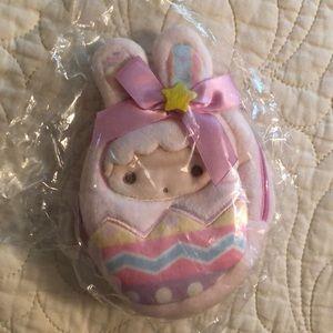 Sanrio plush Easter bunny coin purse. NWT